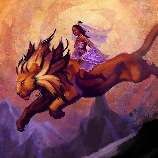 A mount is best harnessed not with the weight of iron reins but with the force of one's will. The Chariot #thelostforest #tarot #tarotdeck #tarotreader #illustration #digitalpainting #characterdesign #fantasyart #fantasyillustration #artistsoninstagram #lion