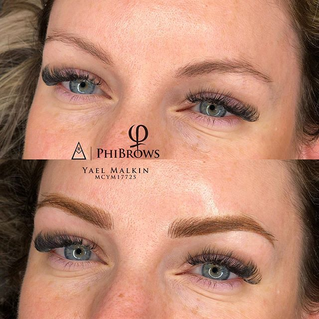 CHECK OUT THESE HYBRIDS! . Hybrid brows is a mix of powder on the body and tails  and a few fluffs on the fronts !  I would normally do it on sensitive skin that has redness but isn't too red in between the brows 😍 . . . . . . #microbladingcanada #canadamicroblading #phibrowscanada #torontomicroblading #microbladingeyebrows #microblading #microbladingtoronto #leslievillemicroblading #vaughnmicroblading #richmondhillmicroblading #markhammicroblading #gtamicroblading #hamiltonmicroblading #woodbridgemicroblading #barriemicroblading #auroramicroblading #torontomicrobladingartist #phibrows #phibrowsartist #phibrowsacademy #phibrowscanada #phibrowstoronto  #phibrowsartisttoronto #phibrowsroyalartist #phibrowsroyalartisttoronto #naturalmicroblading #archaddicts #bentonbrows #bestmicrobladingtoronto #bestmicroblading  @branko_babic_phiacademy @phibrows_marianna @laurac_phibrows  @phibrows_megy_gm