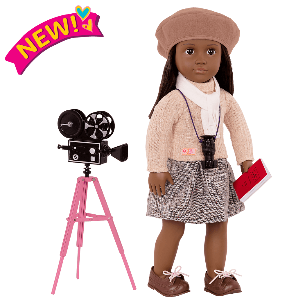 Meet Diandrea, a new Our Generation Doll who wants to be a director. Our Generation Dolls are as tall as American Girl Dolls but cost much less. Diandrea is $21.99 at Target. A compatible American Girl Doll, like the company's  TrulyMe  doll, may cost $115.