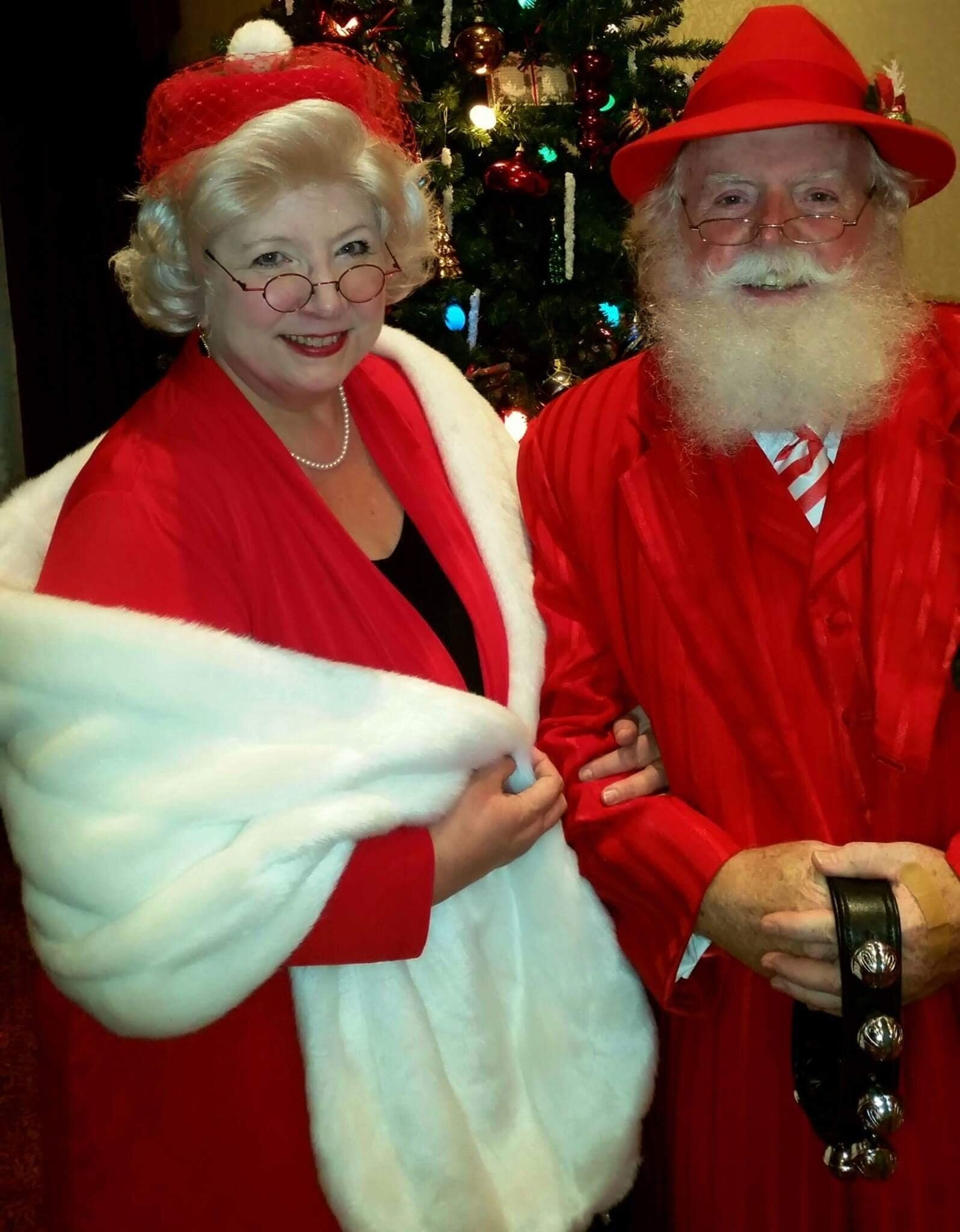 Cheryl Claus with the dapper Santa Carlucci, her business partner. I bought this hat at a sale in Gatlinburg, Tenn. I am so happy to own it, especially because it is infused with such spirit.