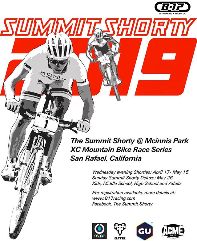 Online registration is NOW OPEN for the 2019 Summit Shorty! • 🕟 Save time and avoid lines when you register and sign waivers in advance. • 💲Save $$$ when you register for the entire Shorty series or for the Middle School series. • See you at the first race on April 17th! Copy and paste or follow link in bio to register now: https://www.webscorer.com/b17racing • • • #summitshorty #getoutside #mountainbikeracing #mtb #marin #norcal