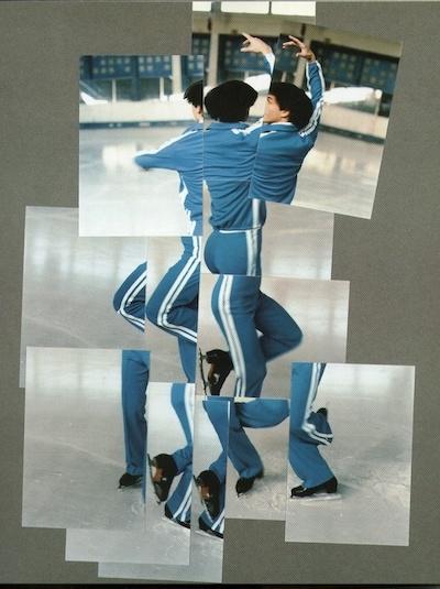 David Hockney,  The Skater , 1984, photographic collage.