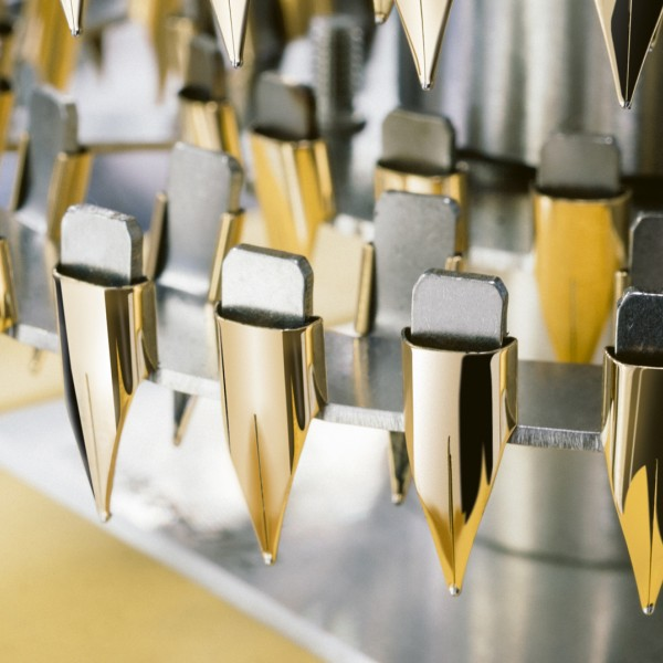 LAMY gold nibs in production