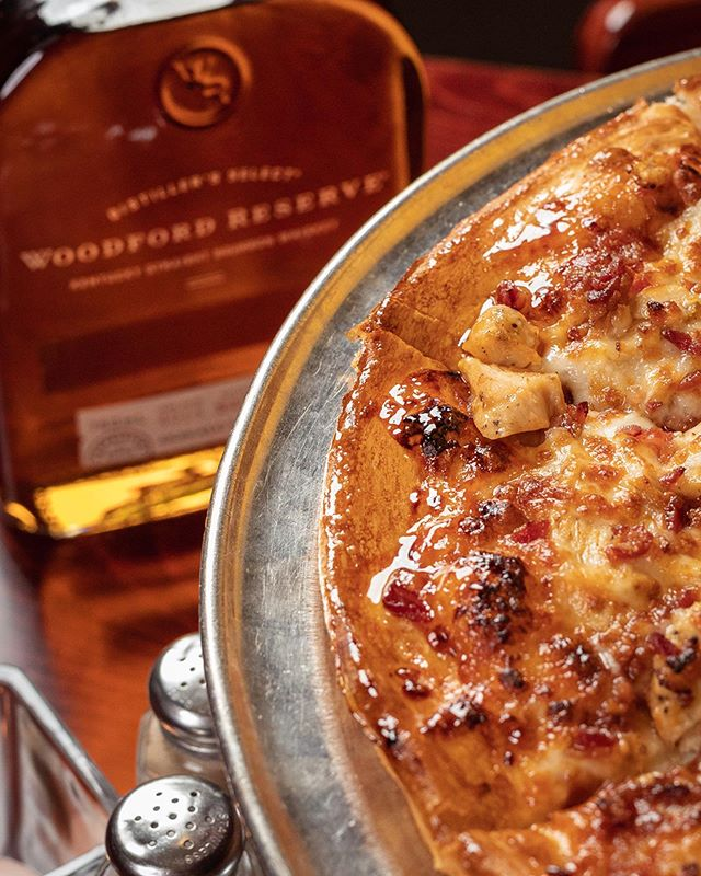 Introducing our new Bourbon BBQ Chicken Pizza with TW's @thomas_wade97's Bourbon Glaze. Yeah you read that right... Come in and try it today 🥃 Must be 21 or older.