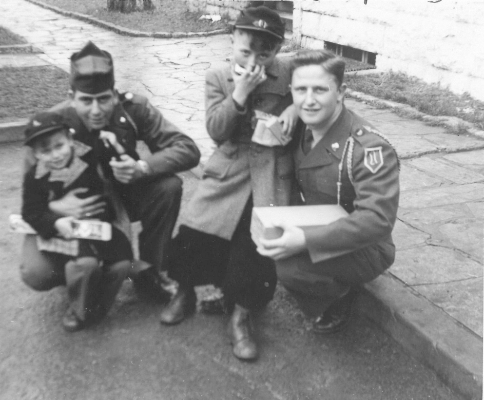 29. Bob in Army with Orphans.jpg