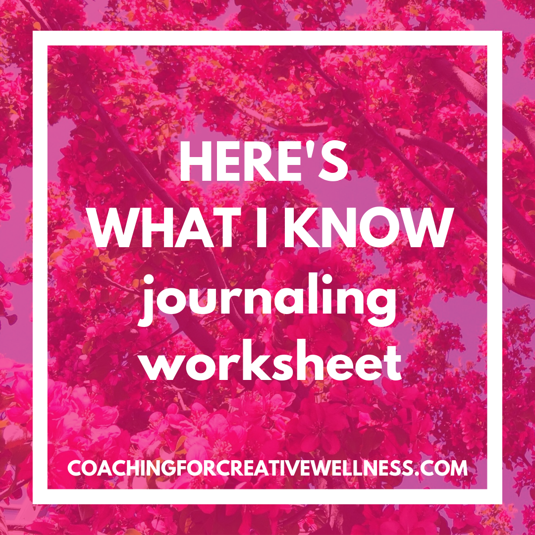 HERE'S WHAT I KNOW - A journaling strategy and prompts for when things feel uncertain, overwhelming, or you just don't know what to write!