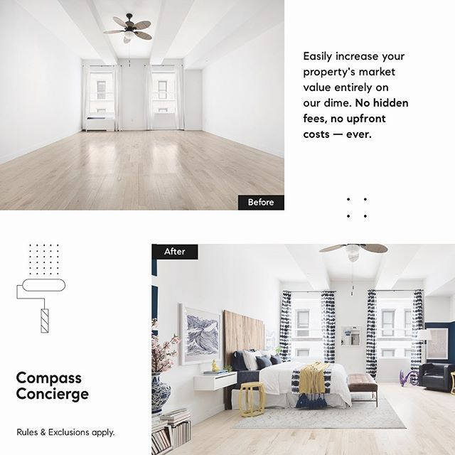 INTRODUCING COMPASS CONCIERGE 💫 ⠀⠀⠀⠀⠀⠀⠀⠀⠀ If you have staging, cleaning, landscaping, or repairs that need to be done, it's now easier than ever with Compass Concierge. Compass helps with the upfront costs, and our clients pay it back, interest free, at closing. Ask us for more details!