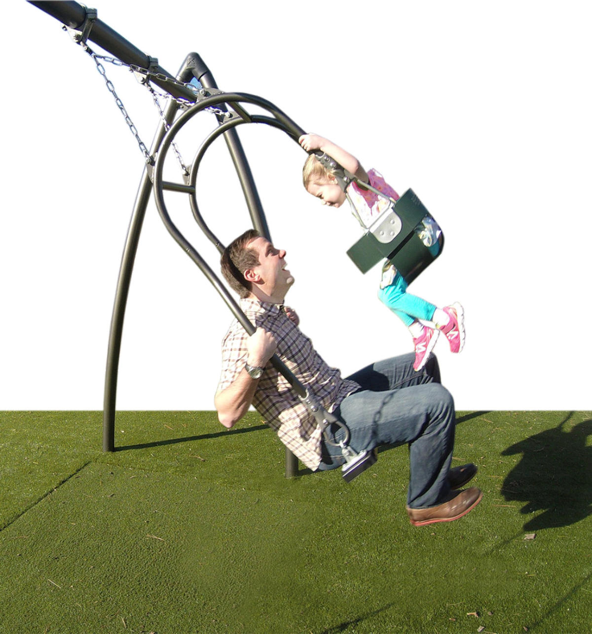 Expression Swing   that allows parents to swing with their child while facing them.