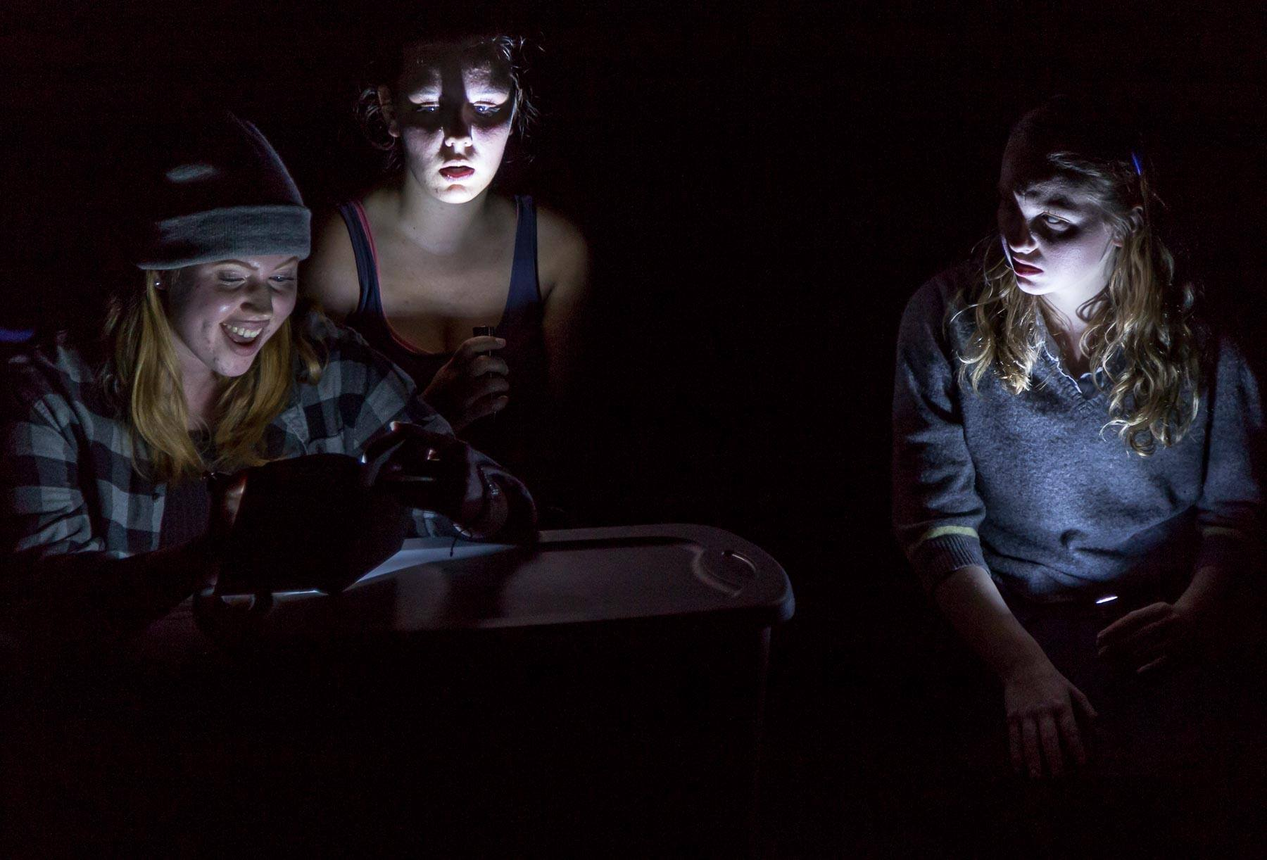 Bloody Mary - 3F / 1MThree girls play a seemingly innocent game that underscores much darker currents in their lives.p r o d u c t i o n s:The Island Theatre, Bainbridge Island, WA, 2017Night Terrors, Producers' Club Theaters, NYC 2014Best of Fresh Blood, Le Petite Morgue, NYC, 2012Fresh Blood, Le Petite Morgue, NYC, 2012The Love Creek Theater, NYC, 2010The American Globe Theater, NYC, 2008