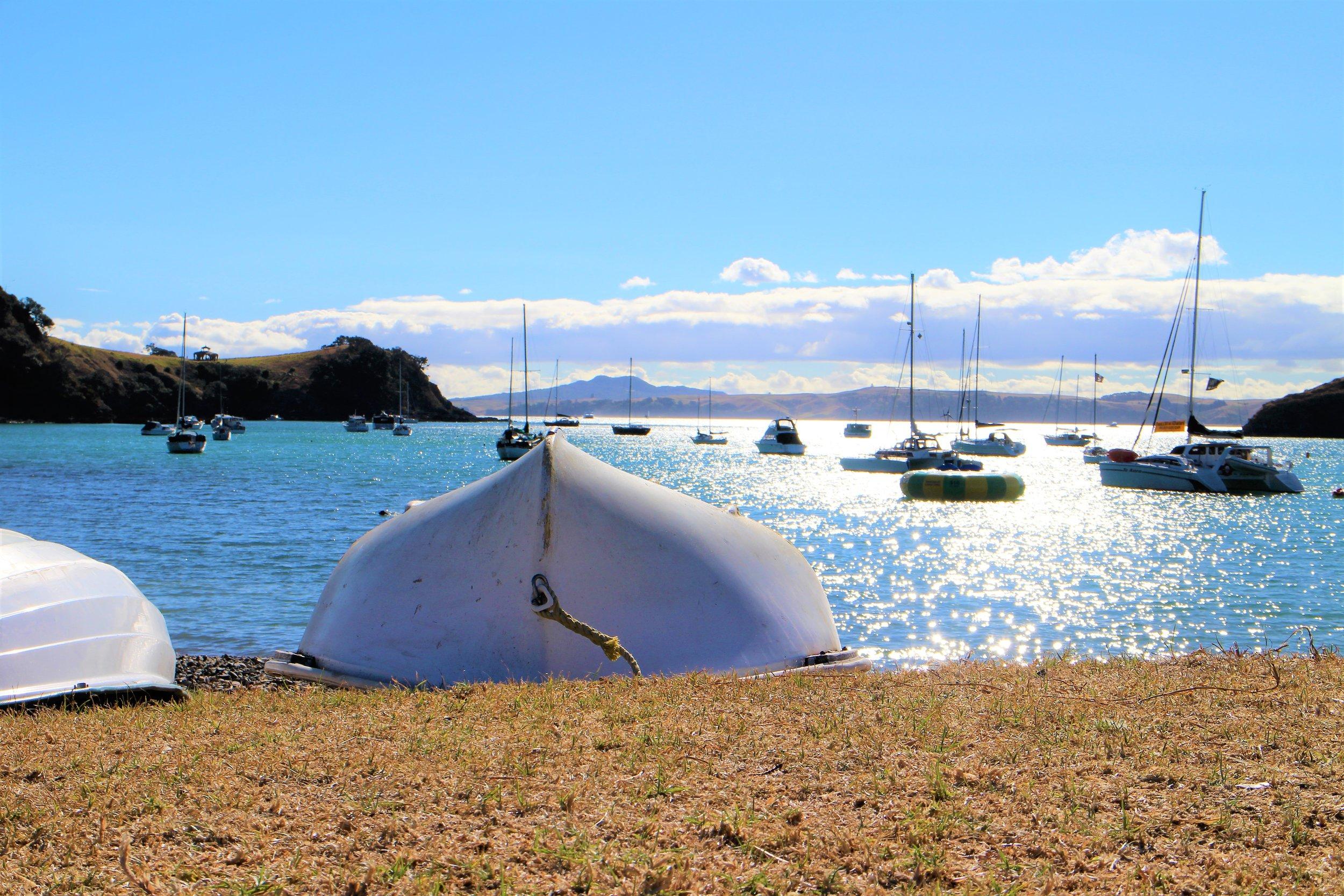 Sailboats off Waiheke Island, New Zealand