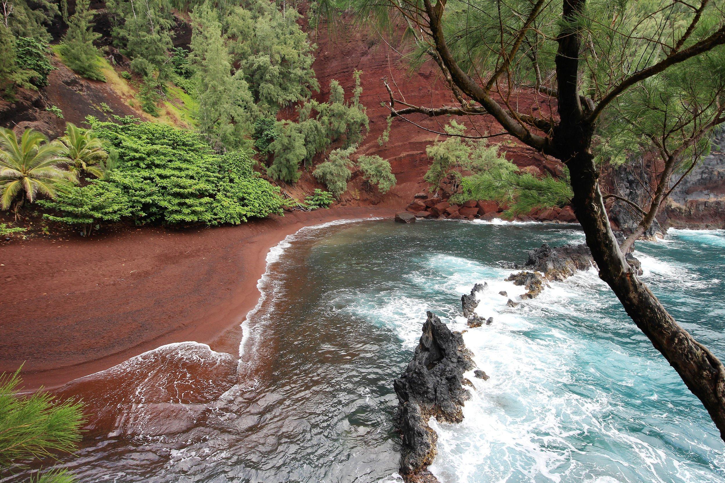 Red Sand beach, Hana, Maui