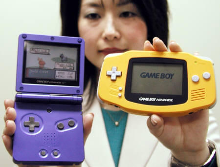 The Game Boy Advance SP was the GBA's upgraded, screen-lit clamshell brother.