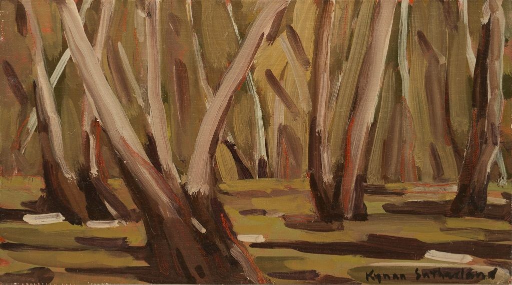 "Landscape (Mount Alexander), 2018  5"" x 9""  Oil on Linen on Board   SOLD"
