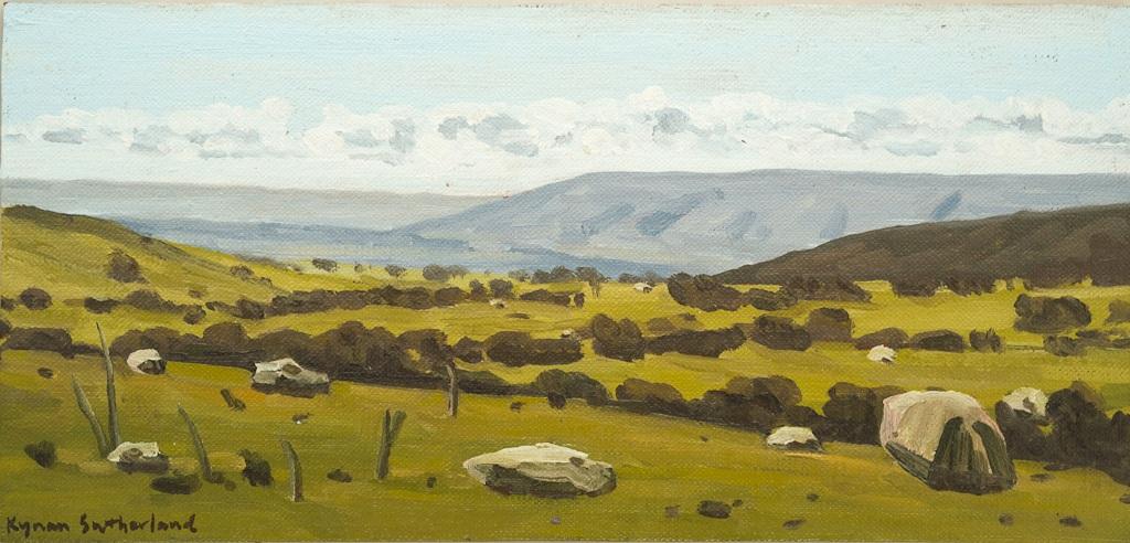 Landscape (Lancefield), 2018  Oil on Linen on Board  18 x 38cm  $480