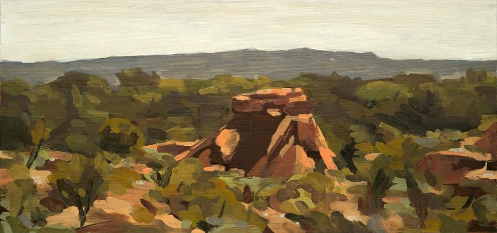 Landscape (Vaughn Springs), 2019  Oil on Cedar Panel  18 x 38  $480