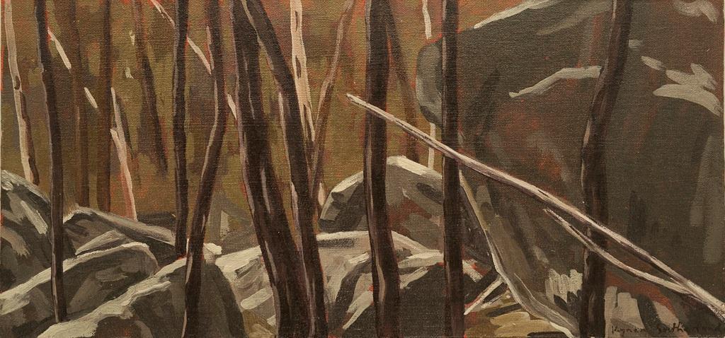 Landscape (Dog Rocks), 2018  Oil on Canvas on Board  18 x 38cm  $480