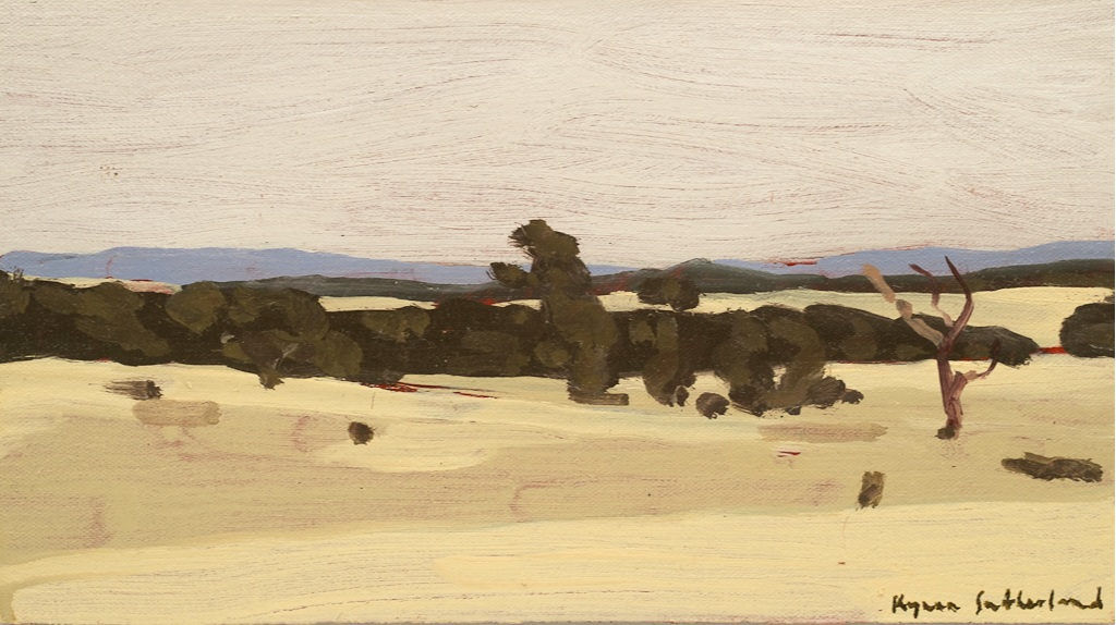 "Landscape (Yapeen), 2019  Oil on Canvas on Board  5"" x 9""   SOLD"