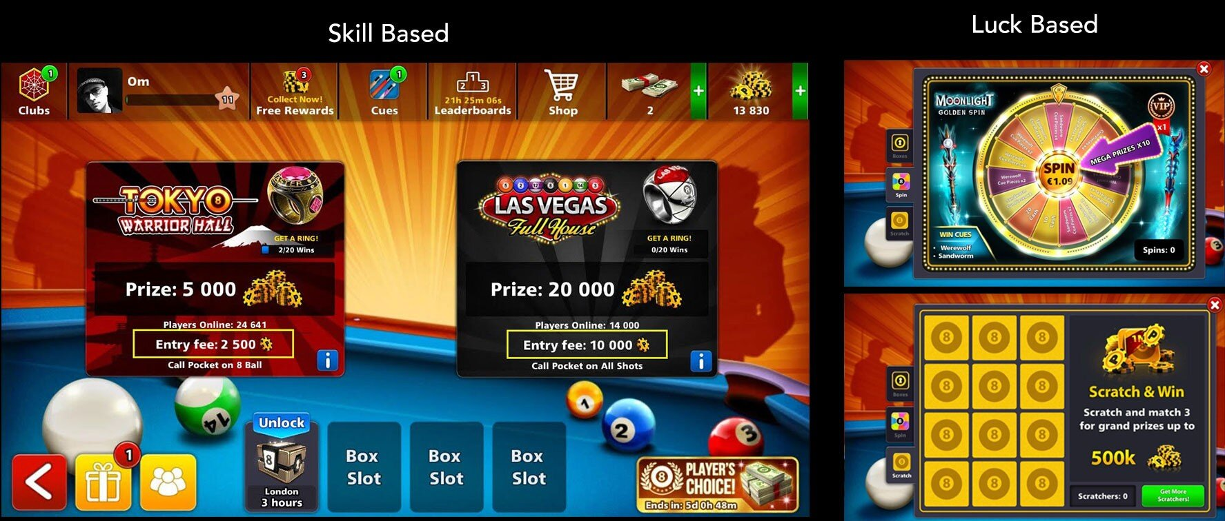 8 ball pool betting cards