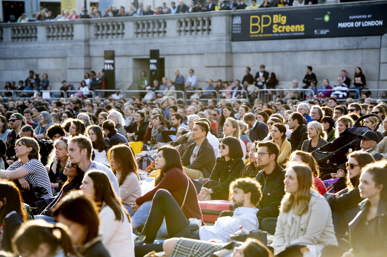 A Royal Opera House BP Big Screen, Trafalgar Square ©2018 ROH. Photographed by Sim Canetty-Clarke