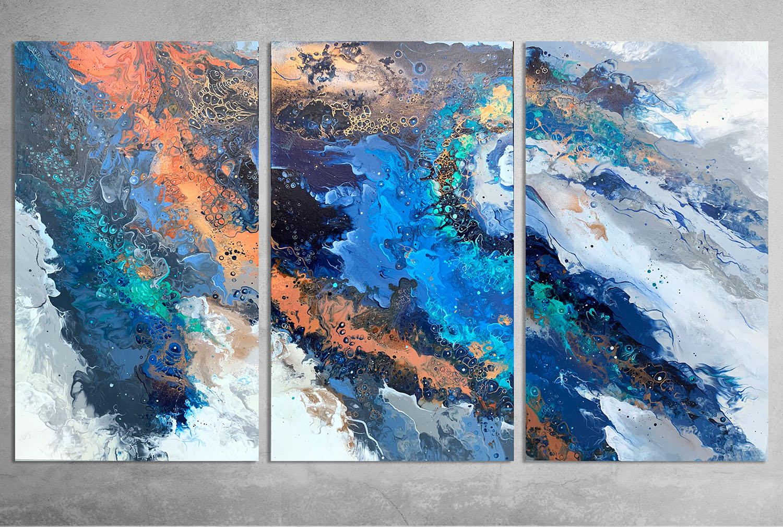 Solar Flare  150x90cm Acrylic and Spray Paint on canvas.  INQUIRE.