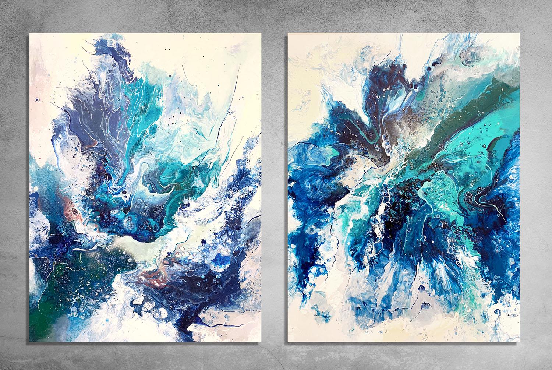 Poseidon's Dream  100x120cm the piece. Acrylic and spray paint on canvas.  INQUIRE.