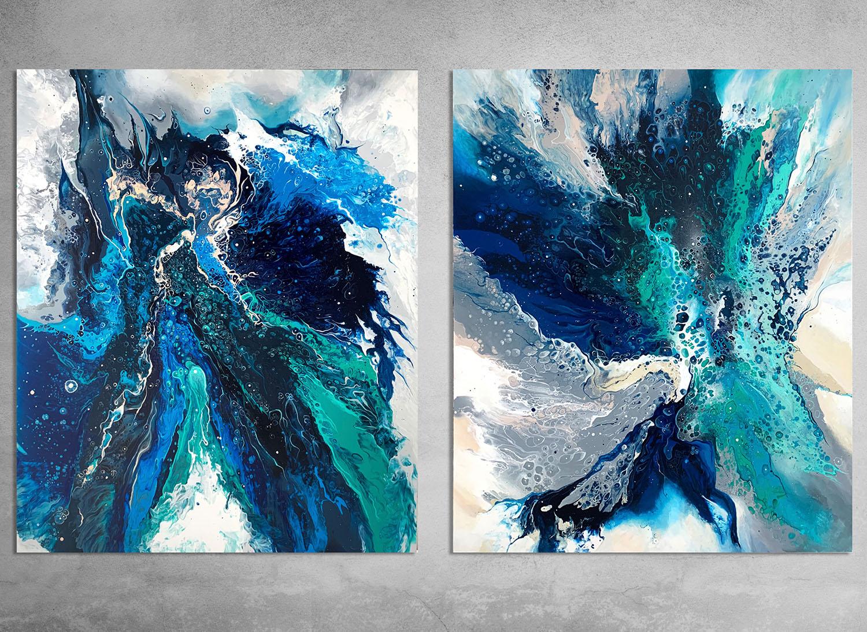 Poseidon's Dream ii  100x120cm the piece. Acrylic and spray paint on canvas.  INQUIRE.