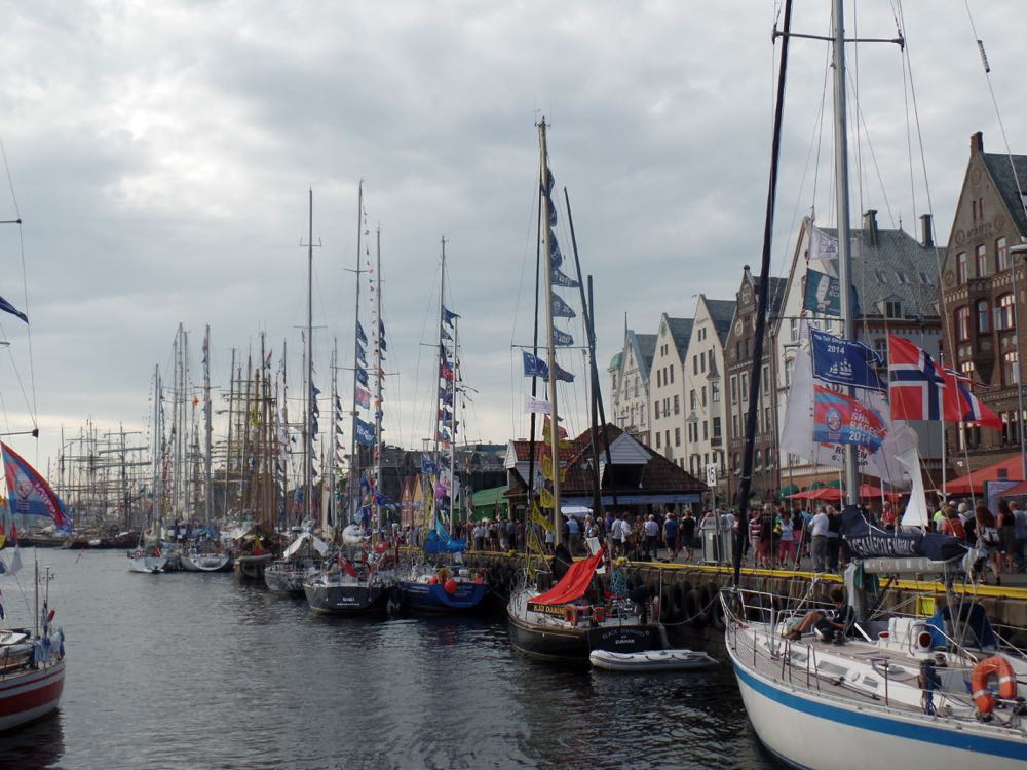 Bergen bay during Tall Ships' Race 2014