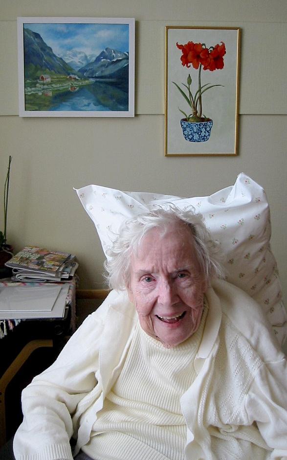 My grandma. I try to be like her.