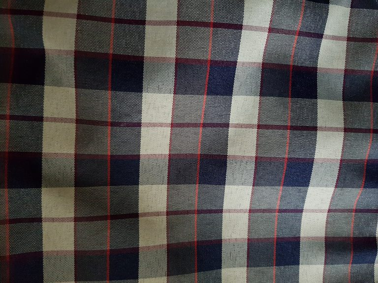The awesome plaid of my shopping cart