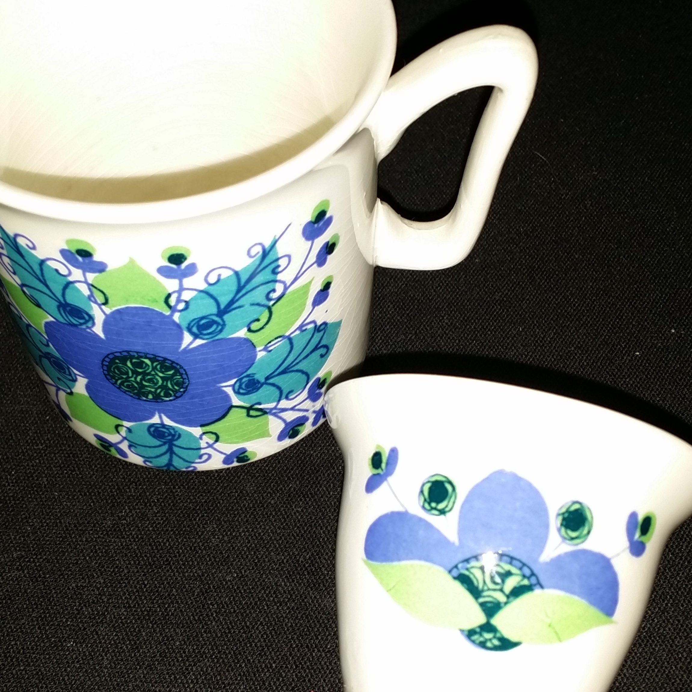 A cup and eggcup from my childhood