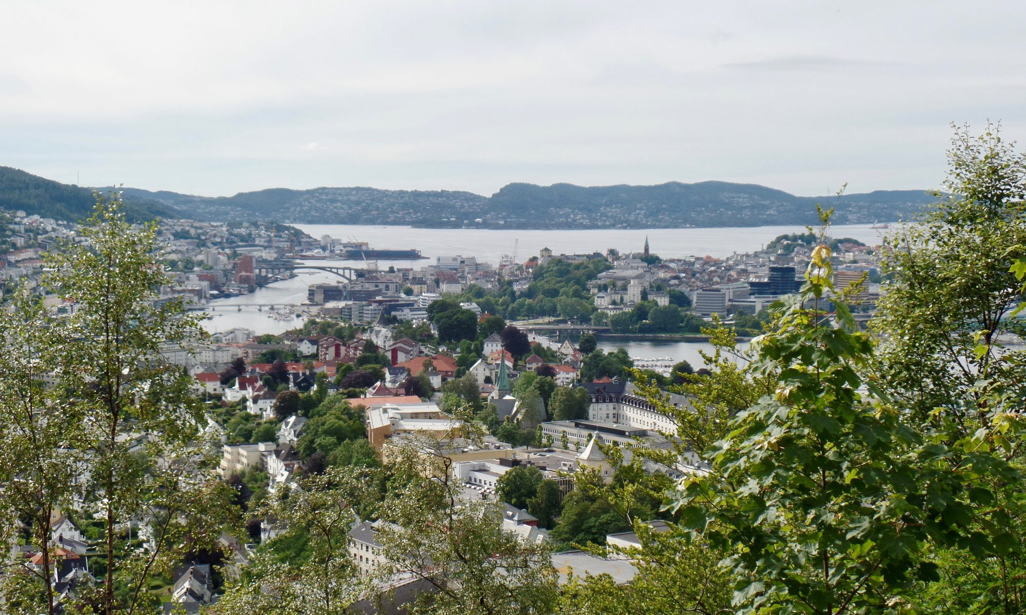 View of Bergen from Landås