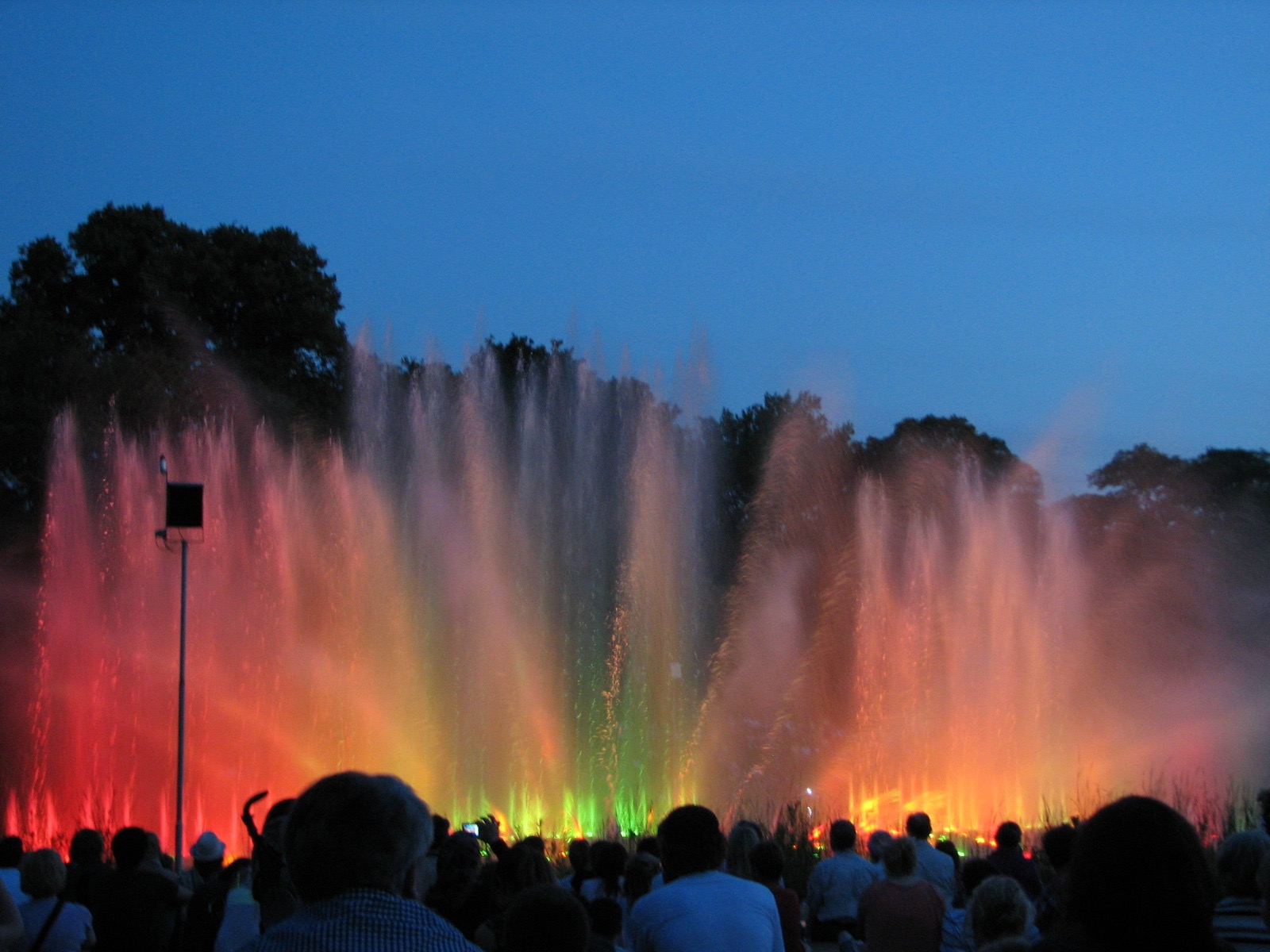 Water show in Hamburg