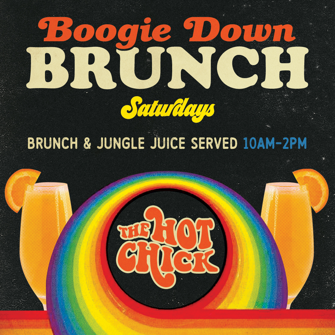 Boogie Down BrunchSaturday - Brunch Served 10am - 2pmJungle Juice Served 'til We Run Out