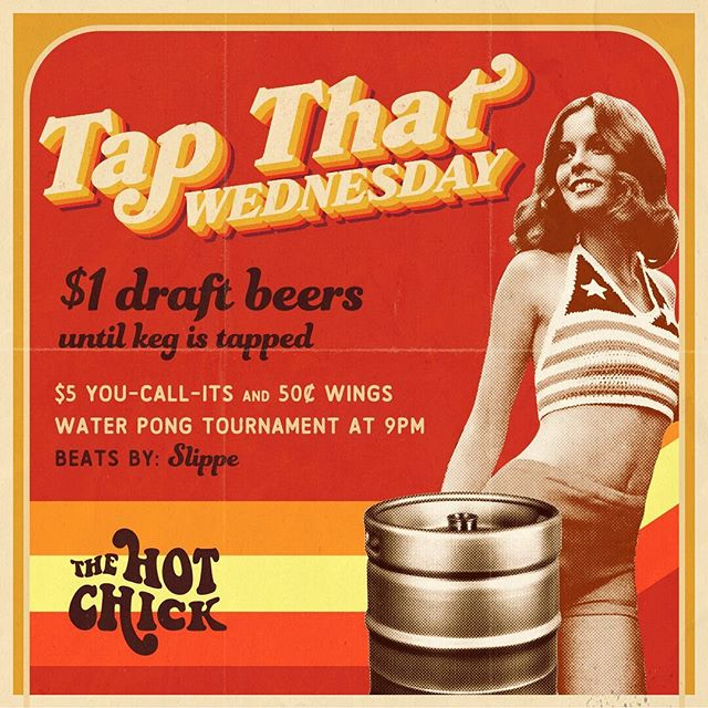 Come help us tap the keg tonight with $1 draft beers while chowing down on 50¢ wings #thisishowwehumpday 🍺🐔