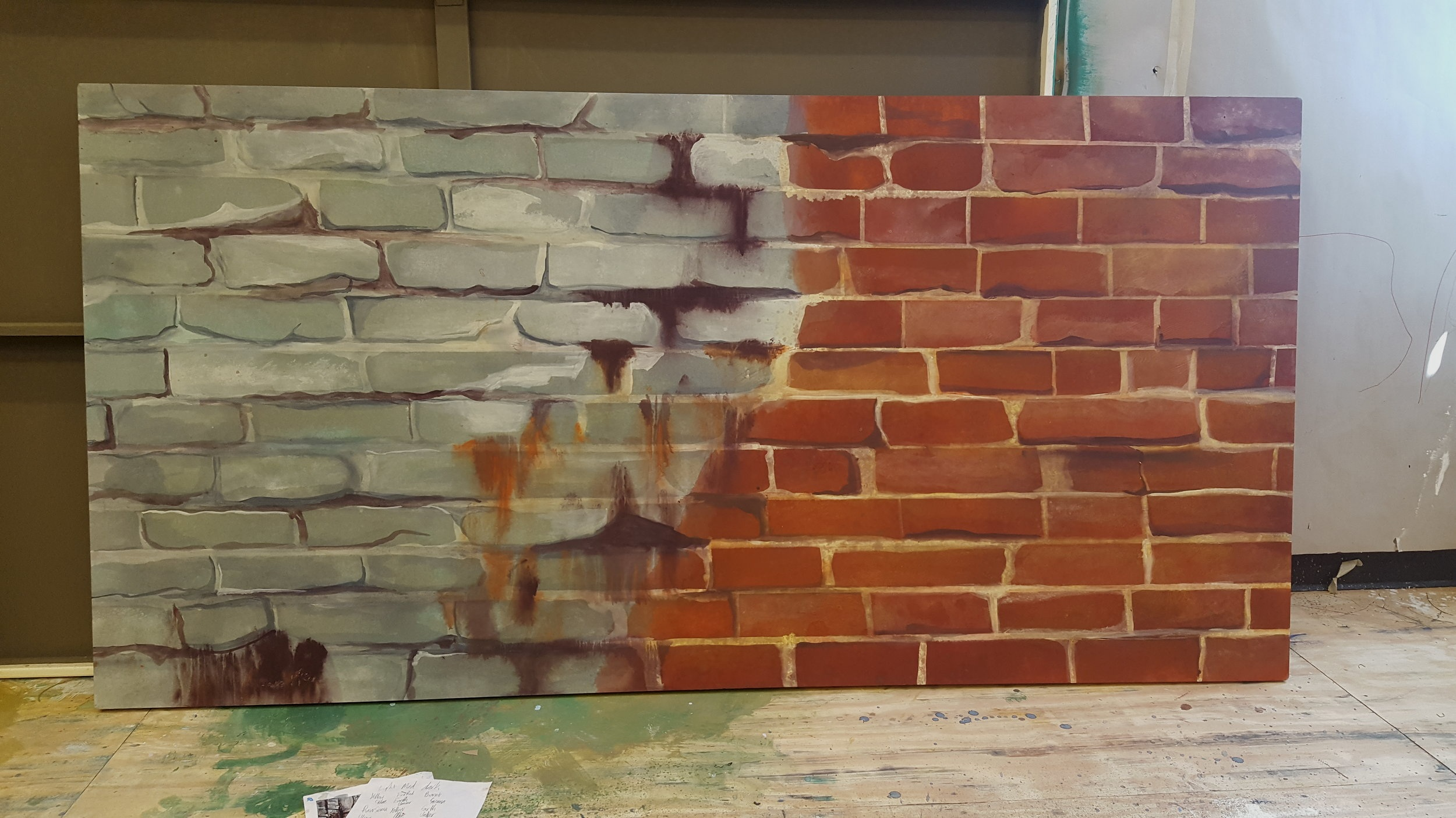 Scenic Painting Project - Brick