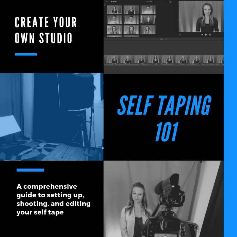 Self Taping 101 - Create your own home studio. Learn about lighting, sound, cameras, editing and more. We also teach you how to tape from anywhere. Never worry about the audition coming in during vacation again! Save money and never need a taping service again.Use promo code GET-SCENE and save 50%!LEARN MORE
