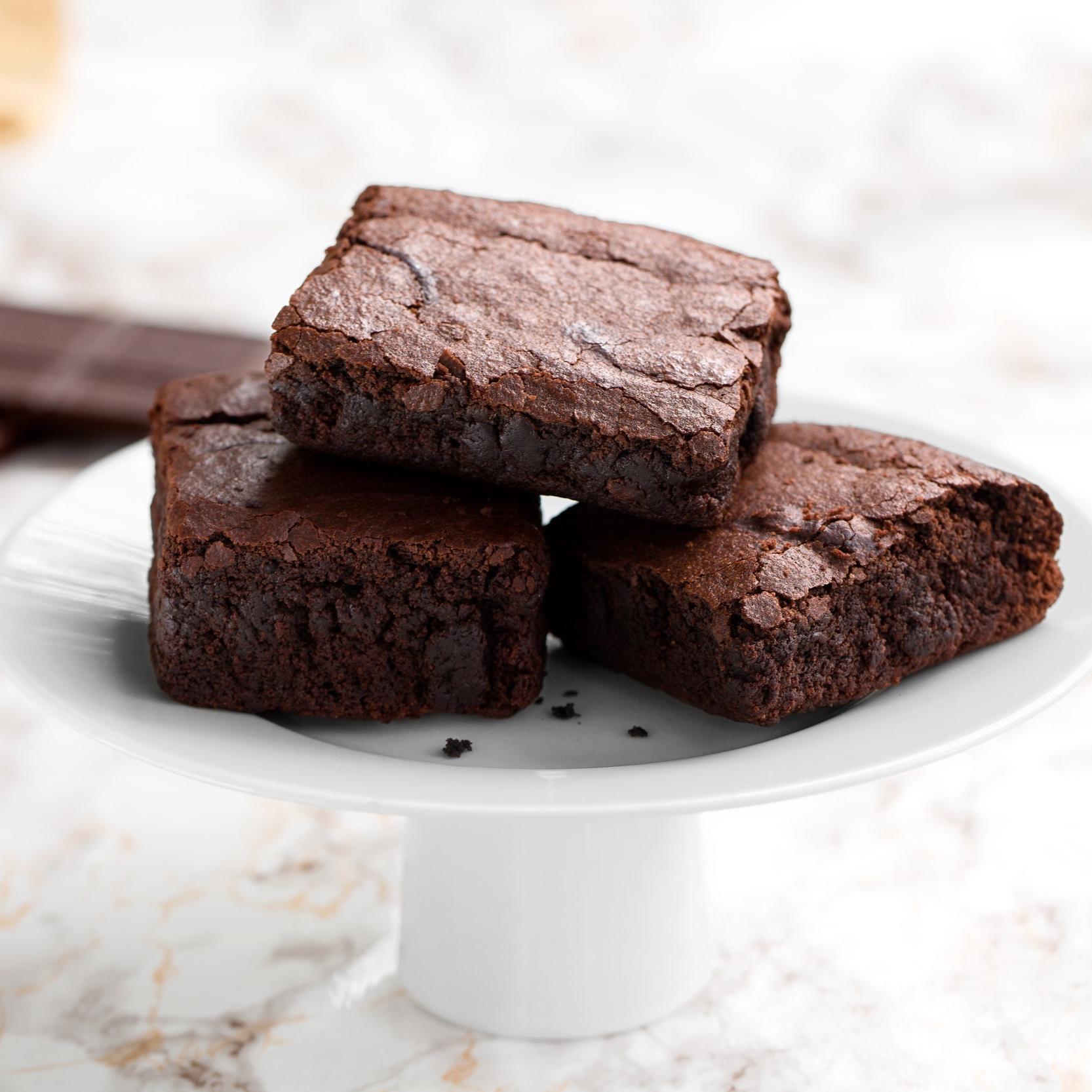 Brownies - Scratch-made fudgy brownies.