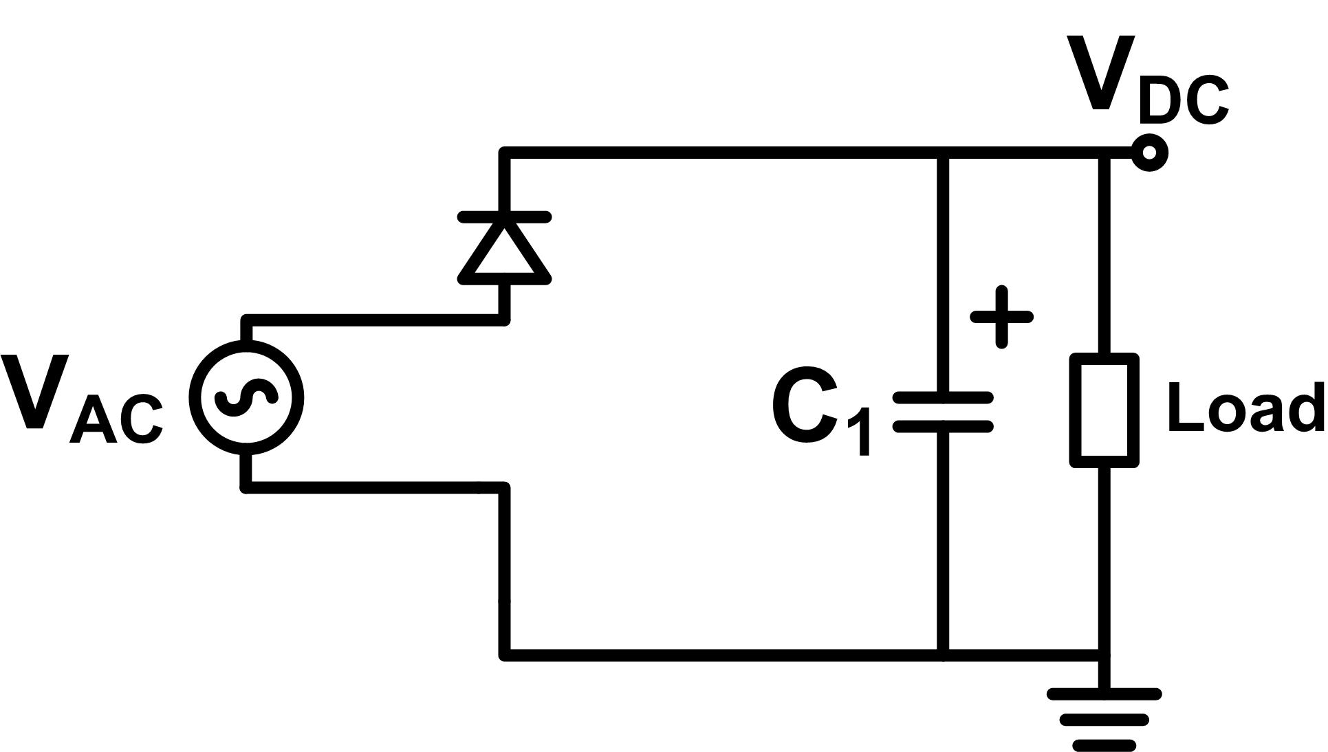 Half wave rectifier circuit