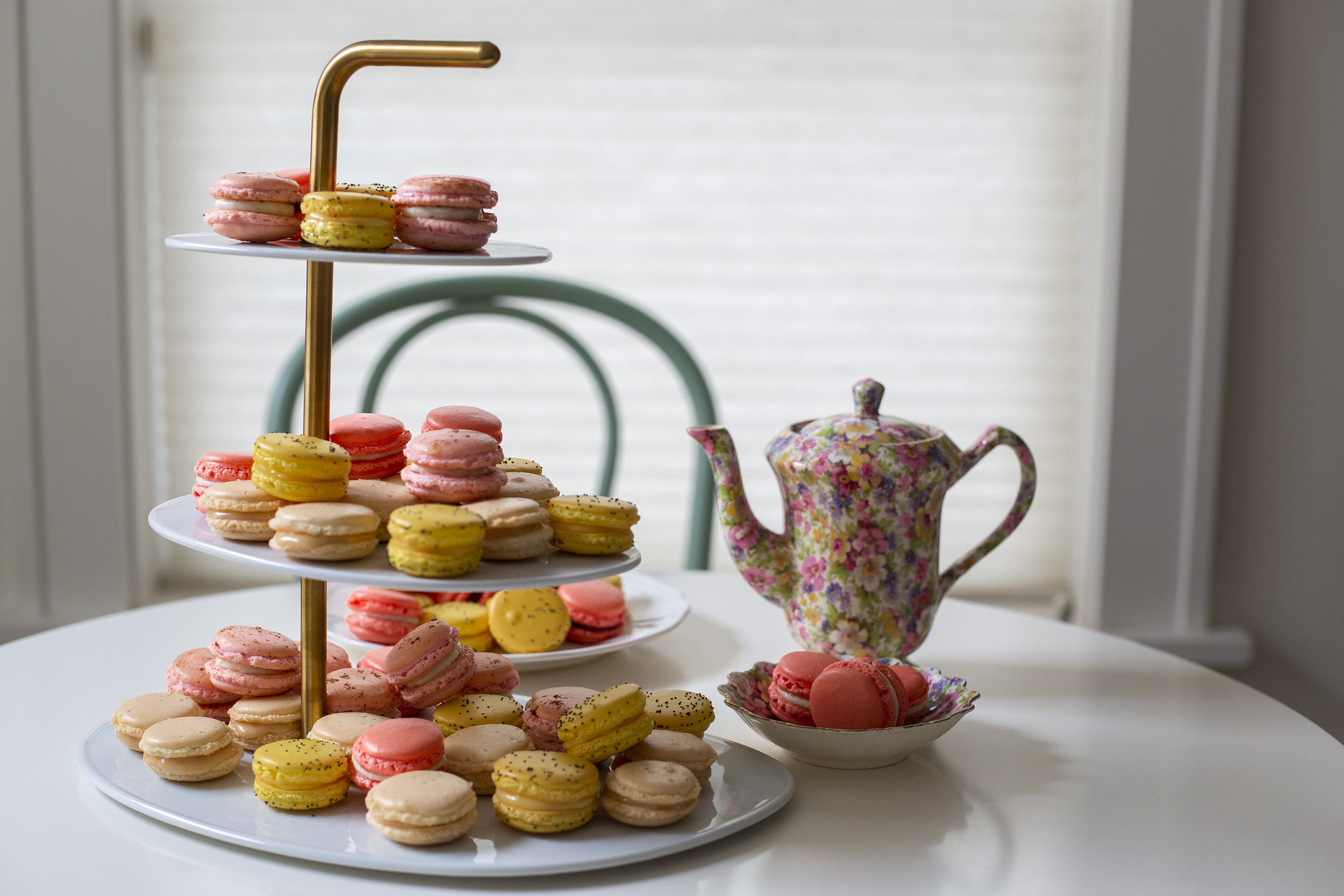 Our Wedding Tier holds up to 50 macarons for your event and costs $25.