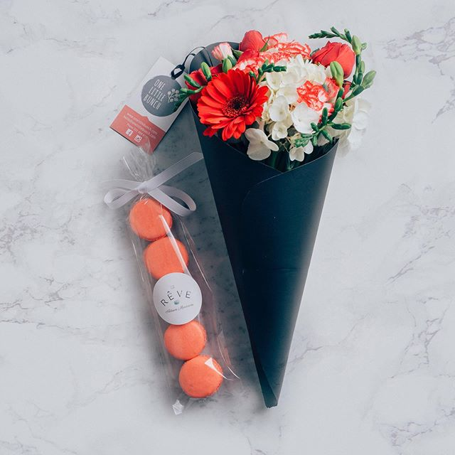 We are super excited to announce an upcoming collaboration for Mother's Day! We are partnering with @onelittlebunch to provide an incredible Mother's Day gift for the women you love in your life. $25 for a bouquet of flowers + 5 macarons in our Spring seasonal flavor favorite, Rose Petal Cardamom for only $7.50 added on to your flower bouquet.  For a total of only $32.50 you'll get a hand delivered bouquet of fresh flowers and 5 delicious macarons to make for a Mother's Day gift she'll never forget! Ordering is live on our site so be sure to get your order in now!