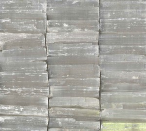 MK4317 selenite stone rectangular pieces on ceramic tile