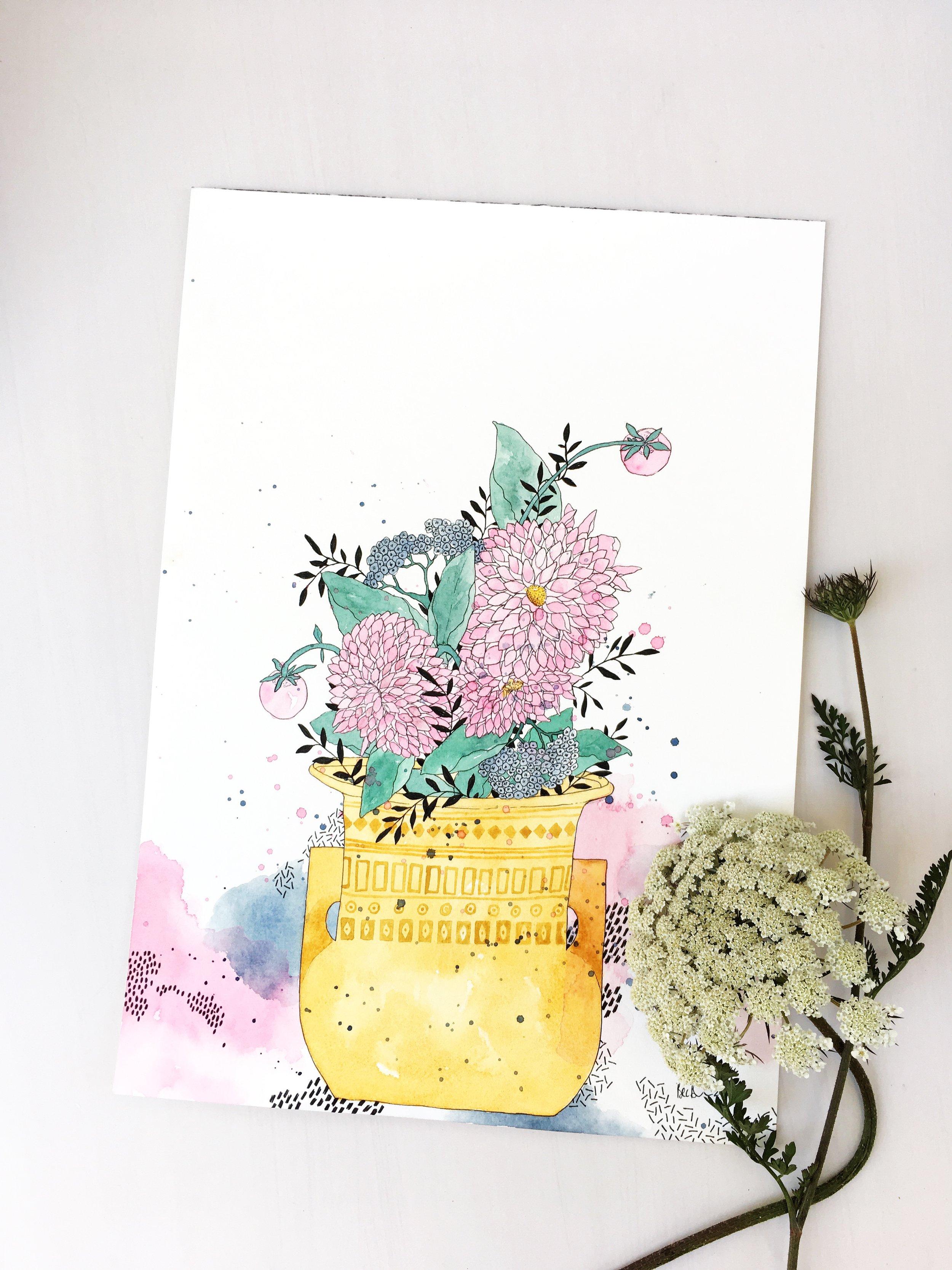 Spring Blooms - A3 Original