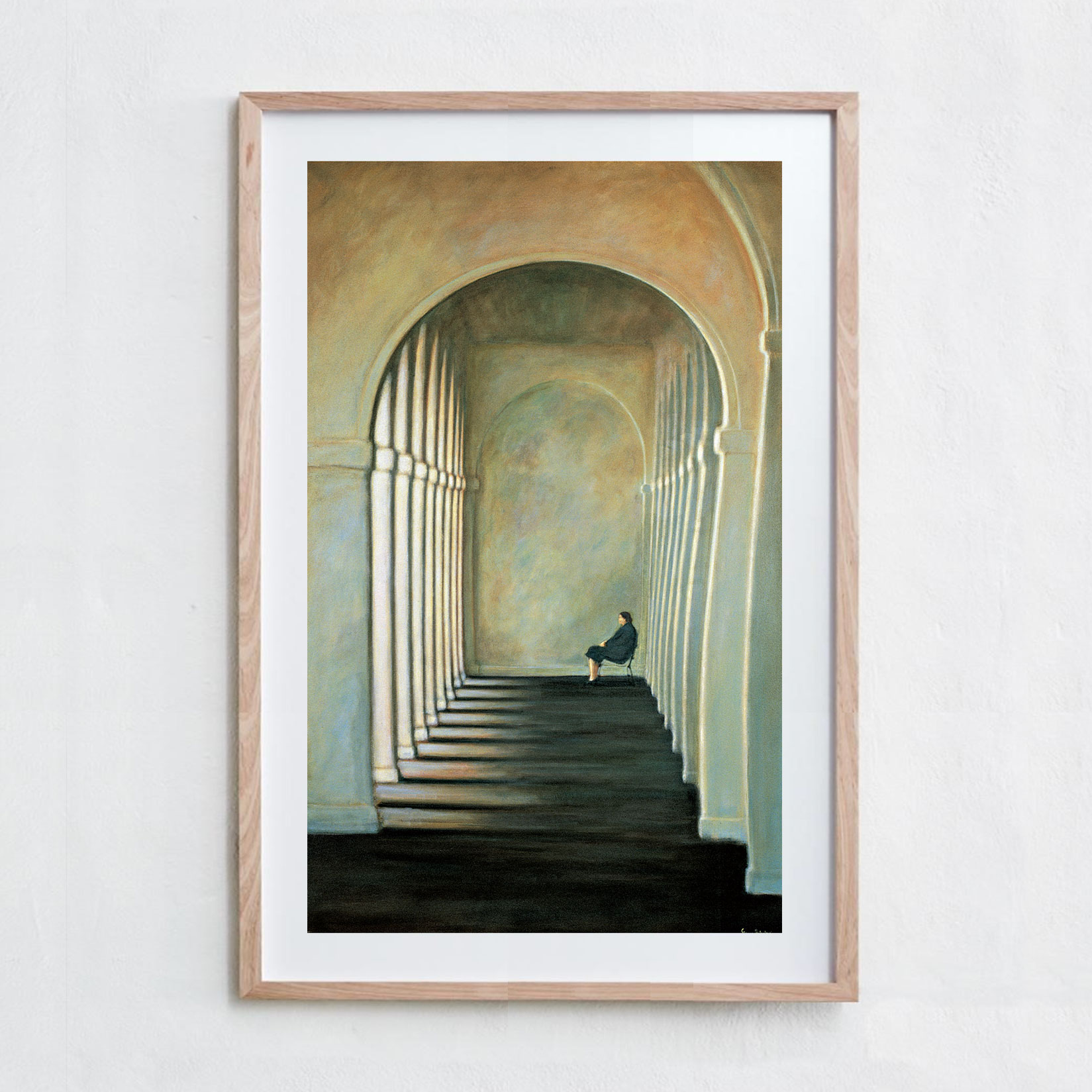 Woman Under Arch  Acrylic Paint, Canvas
