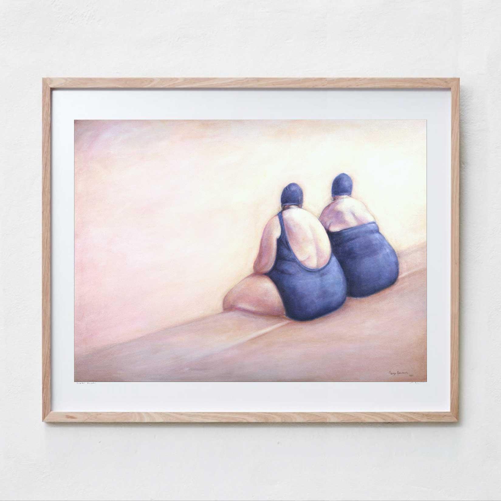 Bondi Bathers  Oil Paint, Canvas