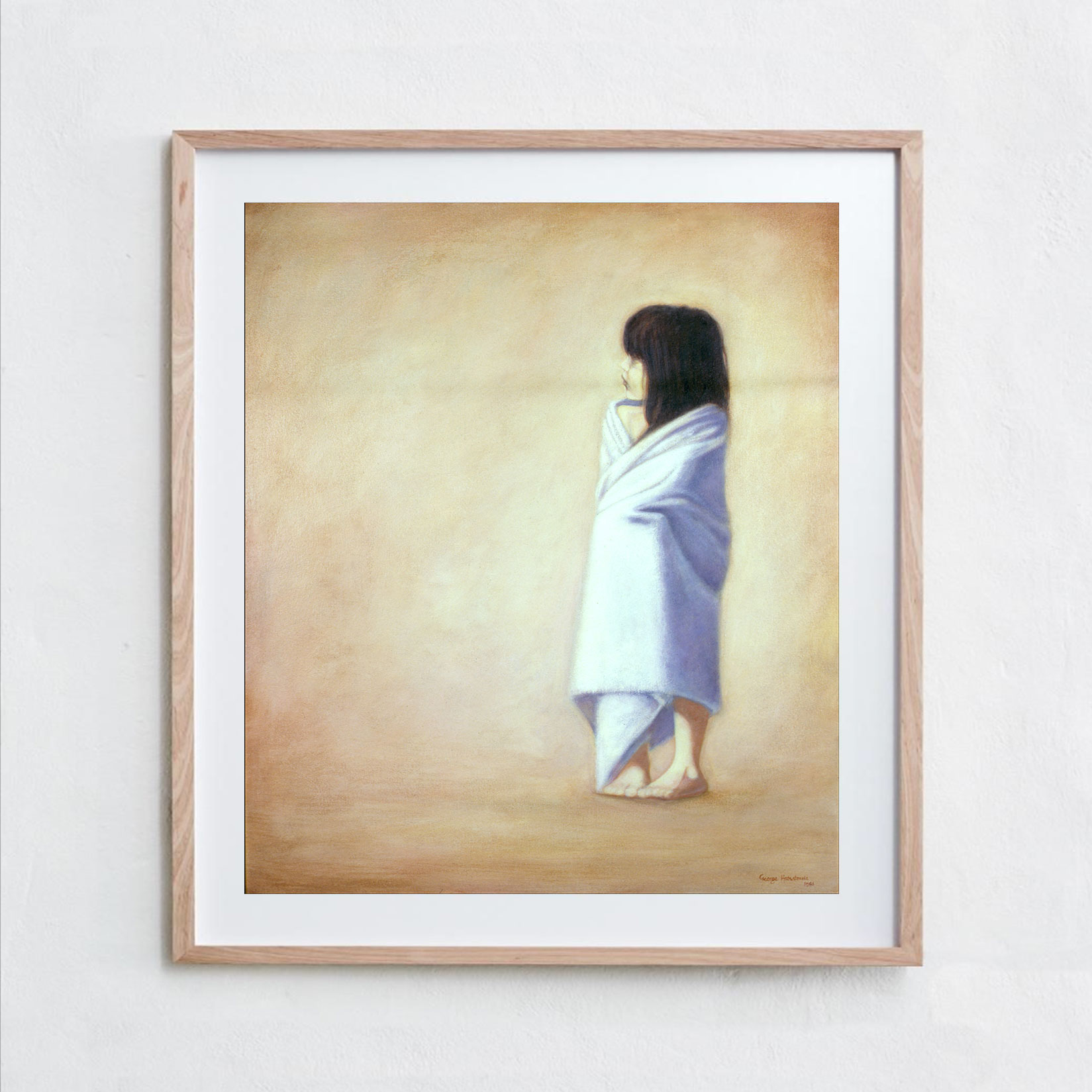 Girl in Towel  Oil Paint, Canvas
