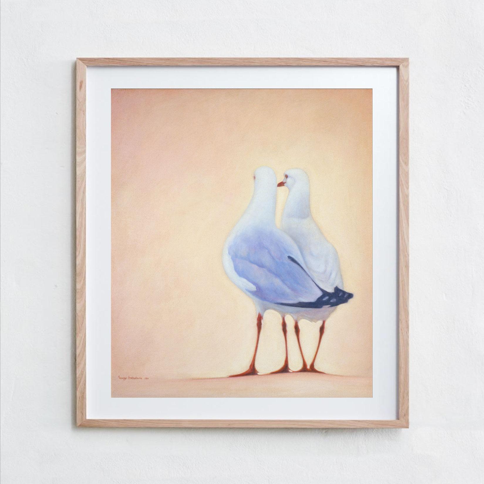 Seagulls  Acrylic Paint, Canvas