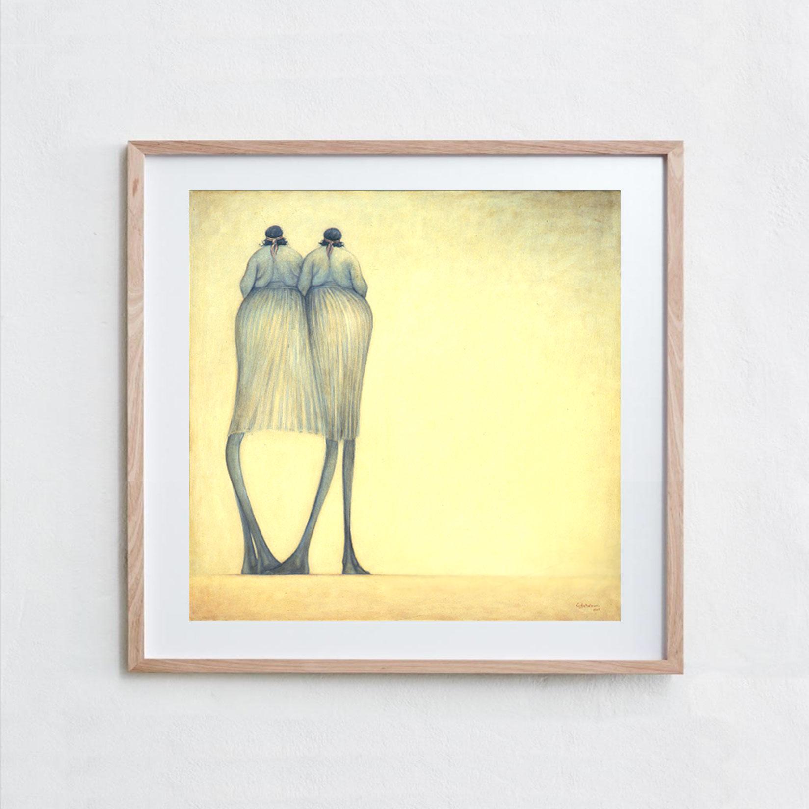 Two Women  Oil Paint, Canvas
