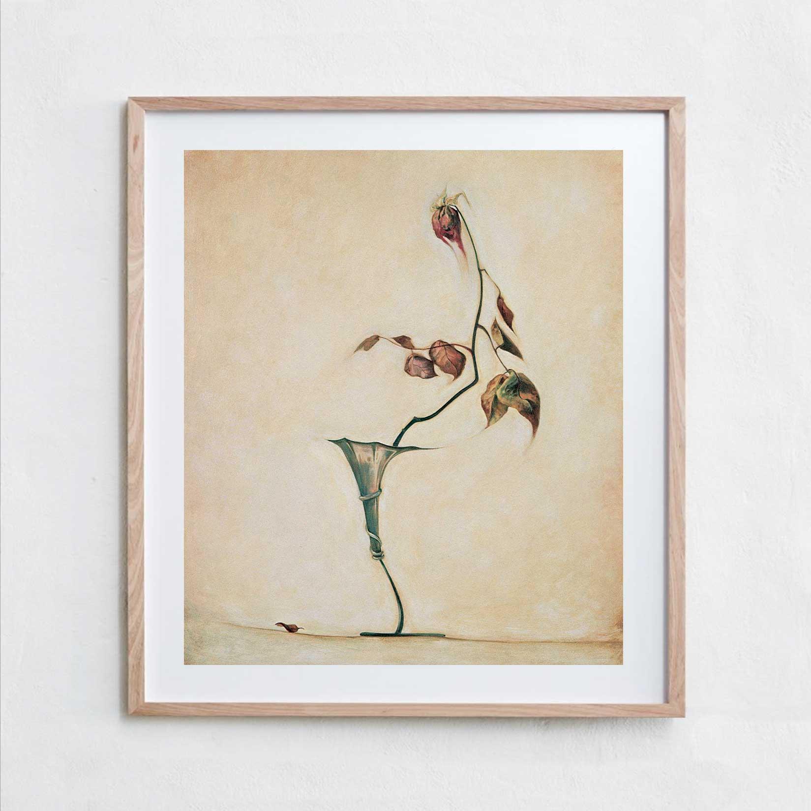 The Rose  Oil Paint, Canvas