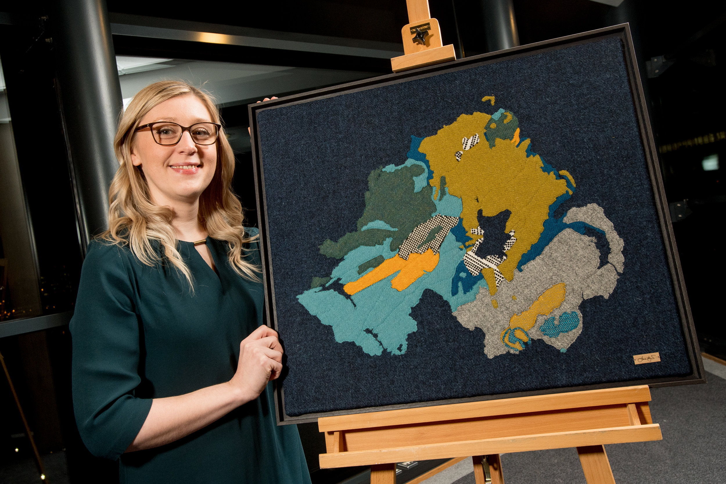 Landscapes from Stone art exhibition Geolgoical Map of Northern Ireland Jane Hunter.jpg