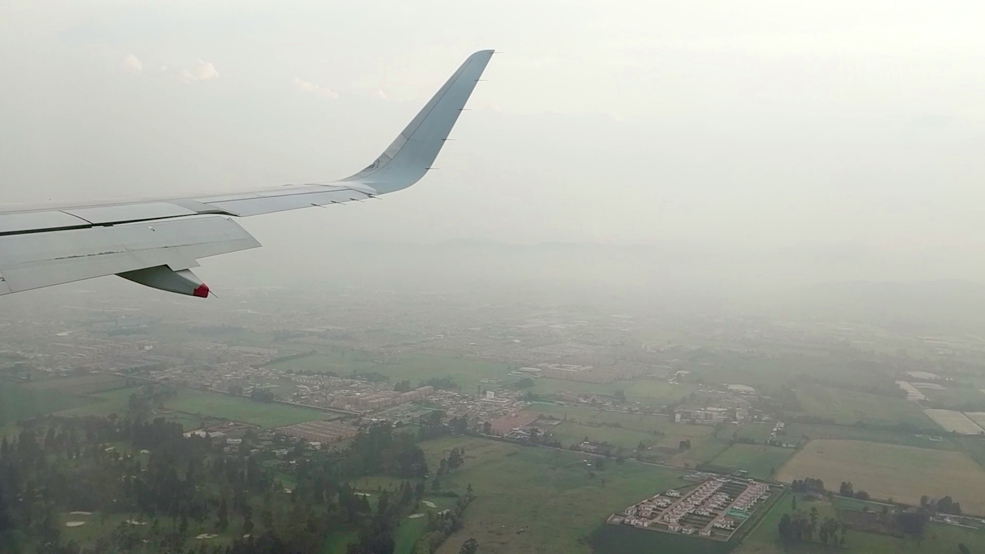 Touching down in foggy (and smoggy) Bogotá